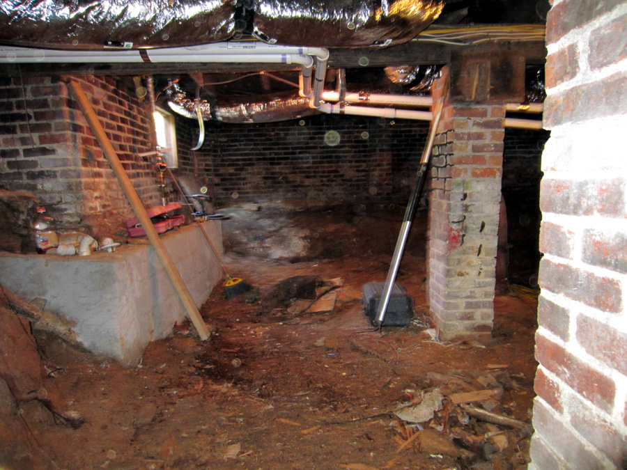finished basement crawlspace